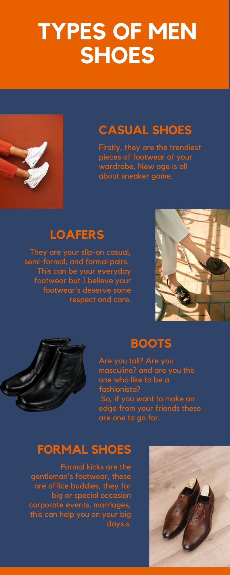Types of men shoes