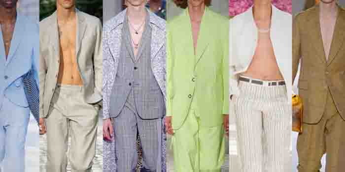 Bare-Chested With A Suit Jacket-Worst fashion and lifestyle clothing trends in the world