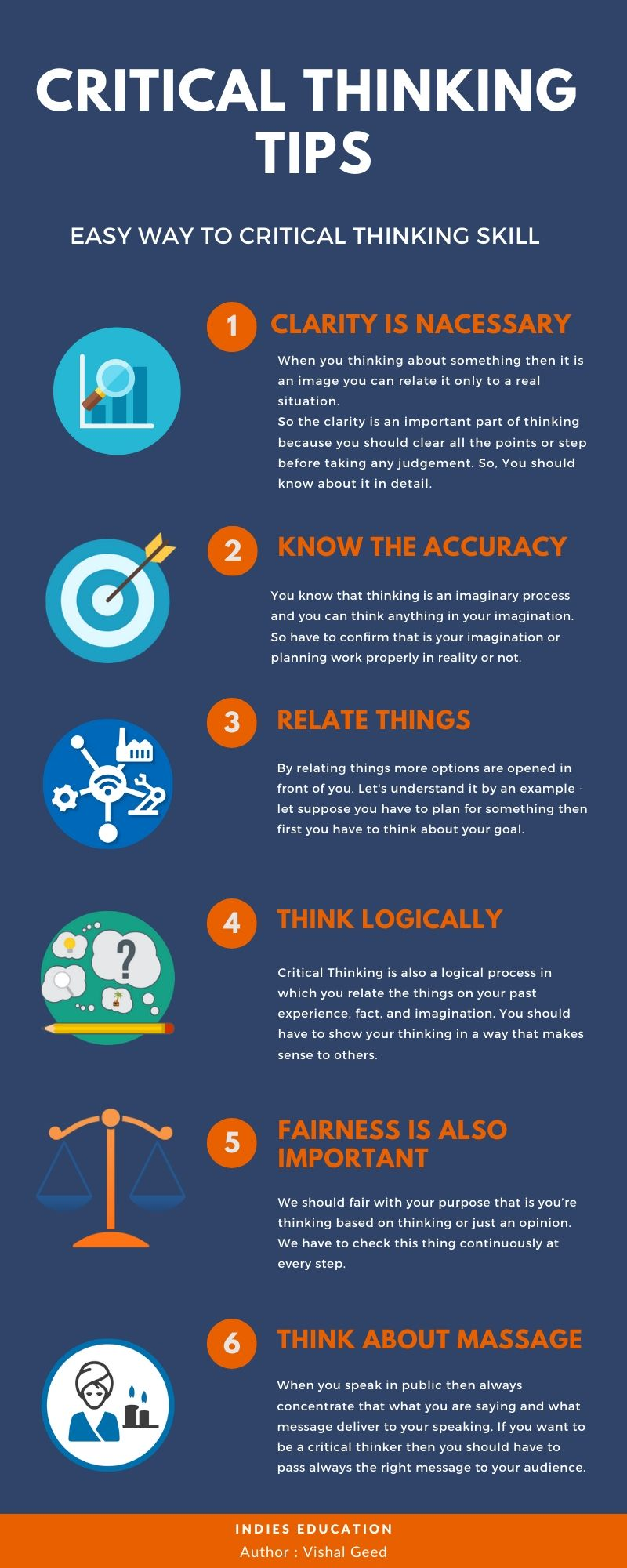 critical thinking tips infographic