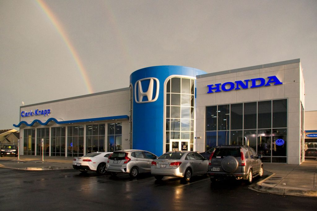 Honda dealership where only Honda products are sold