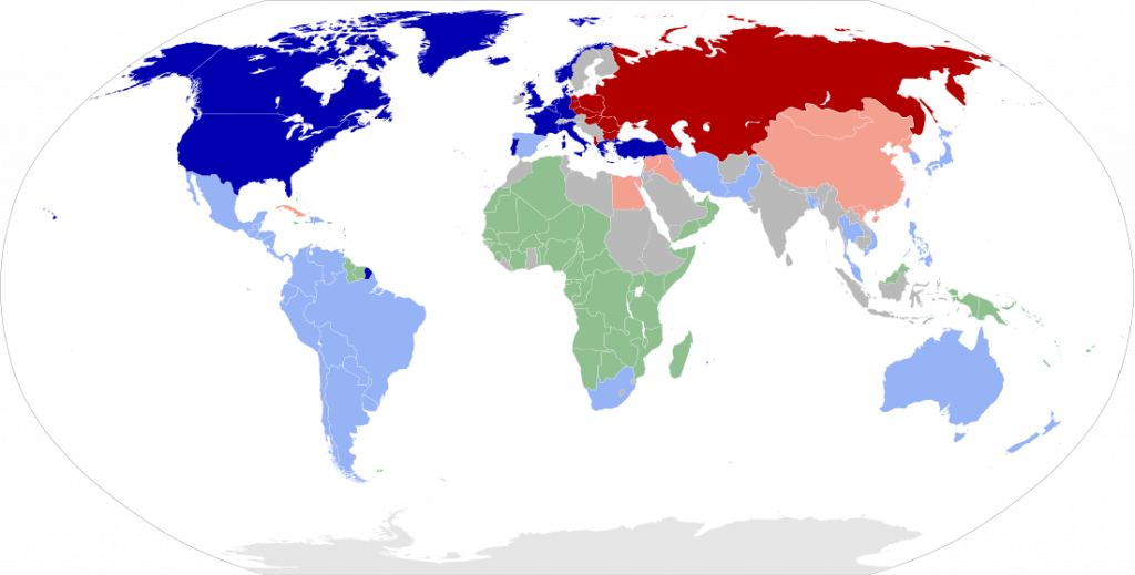 Two teams of the cold war
