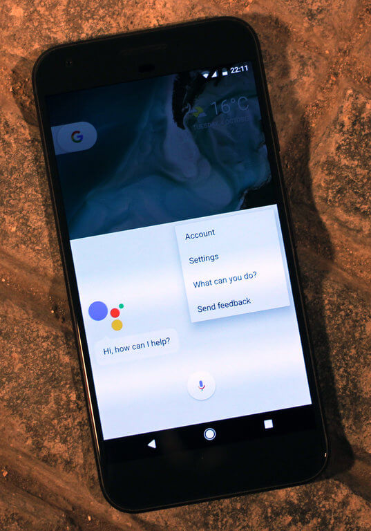 google assistant in a smartphone image
