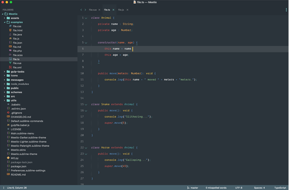 Sublime text 3 code editor