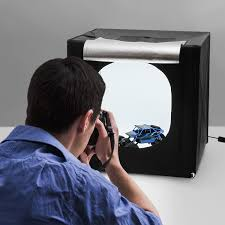 A photography TENT-BOX to shoot  for food photography