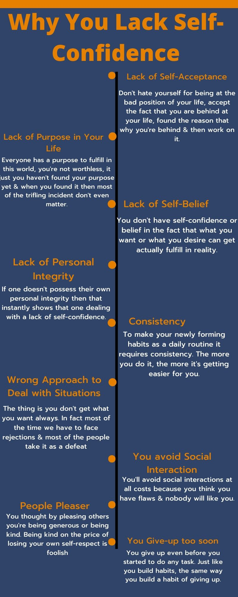 why you lack self-confidence info-graphics