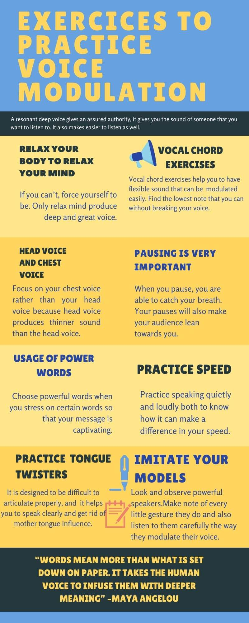 Practices for Voice Modulation