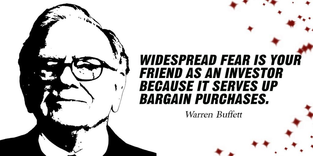 Image of Warren Buffett with a quote