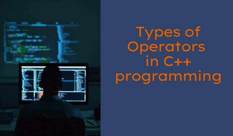 Types of Operators in C++ programming