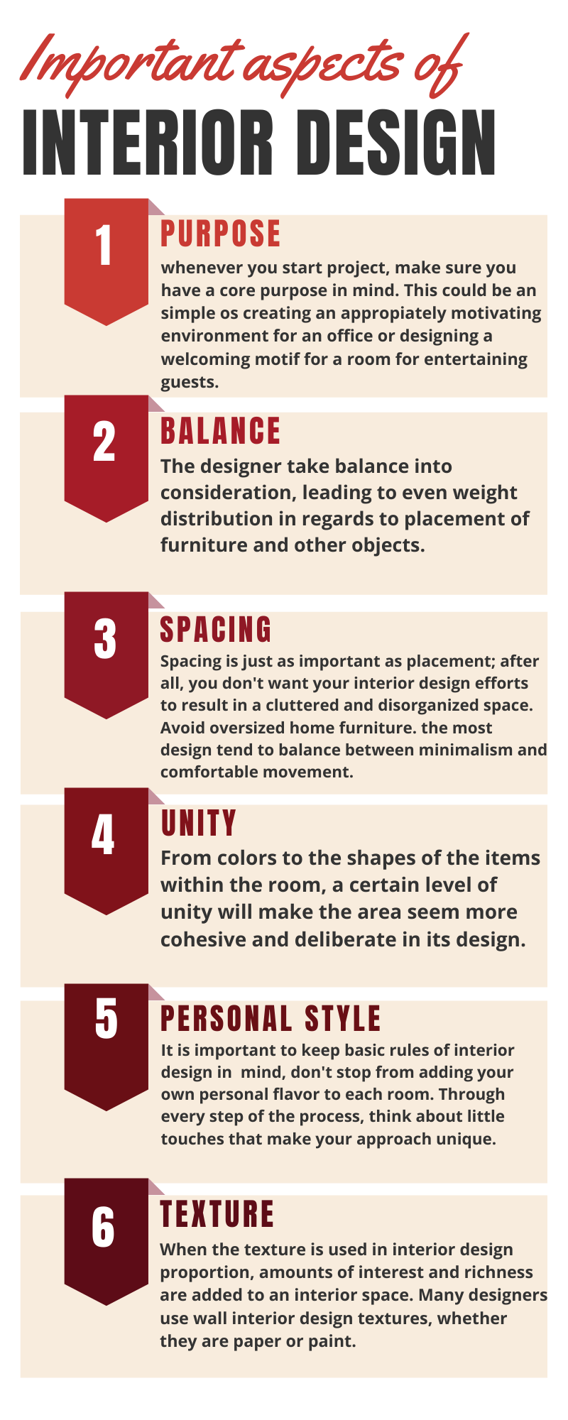 Important aspects of interior design to be considered