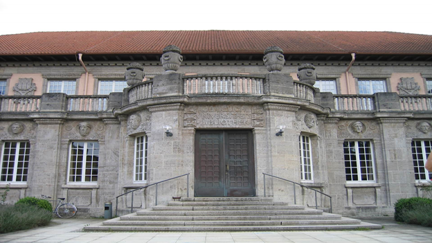 Main gate of theone of the top universities in germany