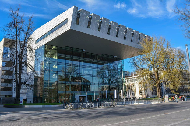 Front view of one of the top universities in germany