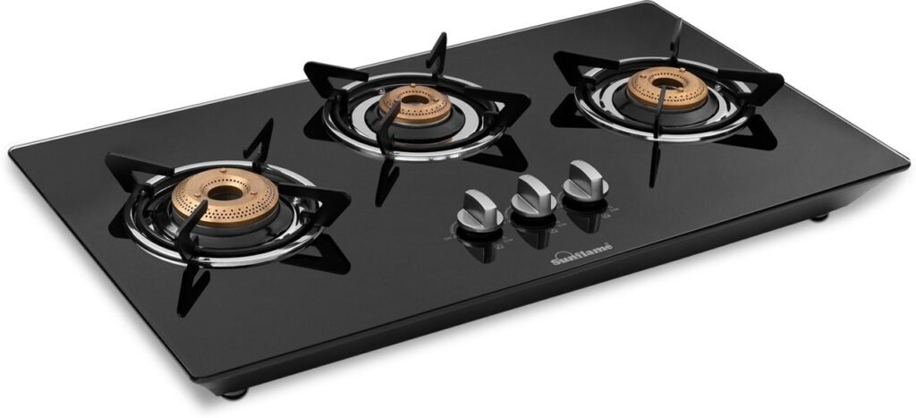 Image of Sunflame LPG STOVE CT Excel 3BR in black colour